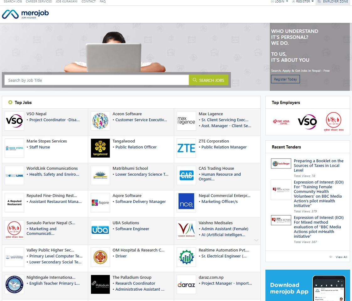 Top 17 Websites For Job Search In The Nepal Jobs68 Com